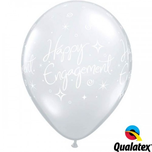 "Engagement Elegant Sparkles 11"" Diamond Clear (25CT)"