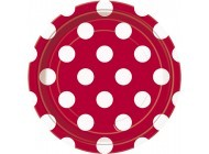 Ruby Red. Dots 7'' Plates 8CT