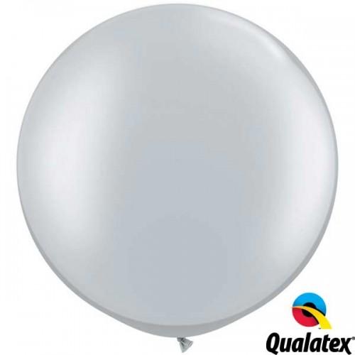 "Silver 30"" Metallic (2CT) - Qualatex"