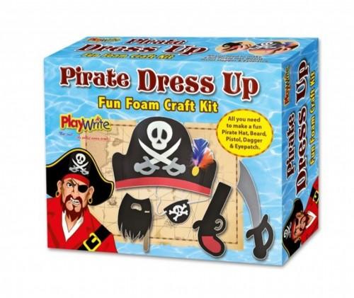 Foam Pirate Dress Up Craft Kit Boxed