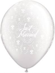 JUST MARRIED FLOWERS-A-ROUND 5'' DIAMOND CLEAR (100CT)