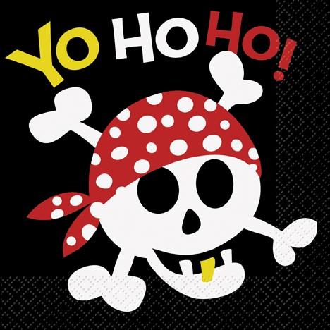 Yo Ho Ho Pirate Luncheon Napkins 16ct