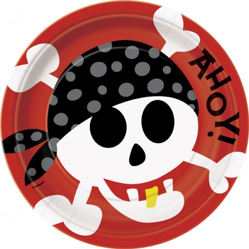 9'' Ahoy Pirate Plates 8ct