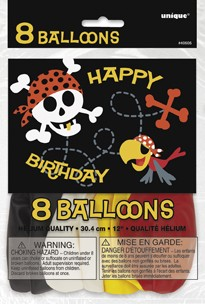 12'' Birthday Balloons Printed 1 Side