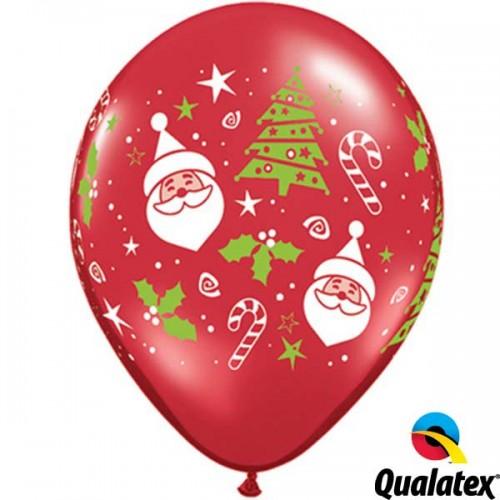 """Santa & Christmas Tree 11"""" Ruby Red (50ct)"""