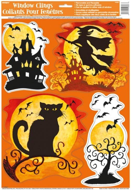 Spooky Hollow Window Clings Sheet