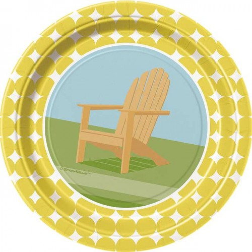"""7"""" Plate - Sunny Chairs - 8ct. 12pk."""