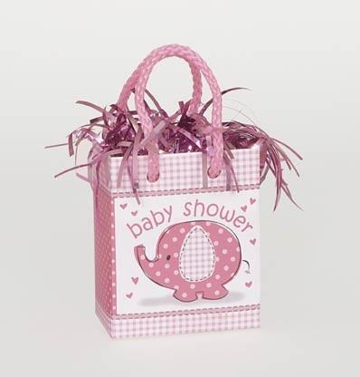 Mini Giftbag Balloon Weight - Umbrellaphants Pink 6ct - Baby Shower