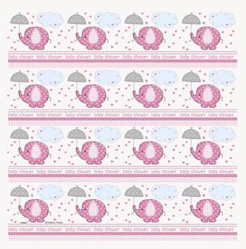 Umbrelephants Pink Gift Wrap