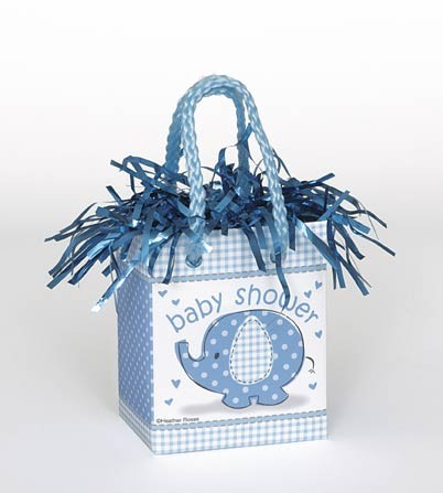 Mini Giftbag Balloon Weight - Umbrellaphants Blue 6ct - Baby Shower
