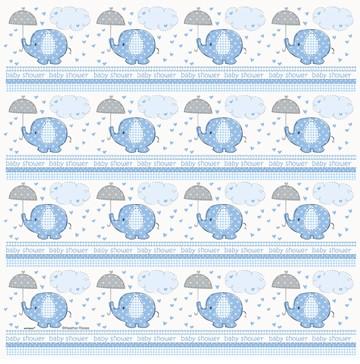 Umbrelephants Blue Gift Wrap