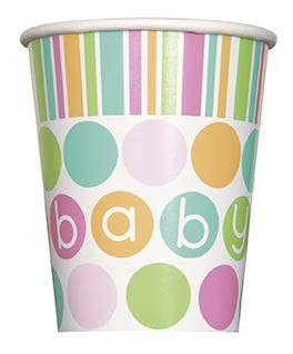 9oz. Cups - Pastel - Baby Shower 8CT.