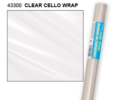 "Clear Cello Wrap Roll 30"" x 5ft."