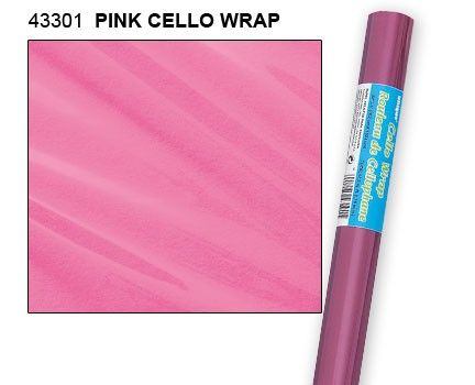 """Pink Cello Wrap Roll 30"""" x 5ft."""