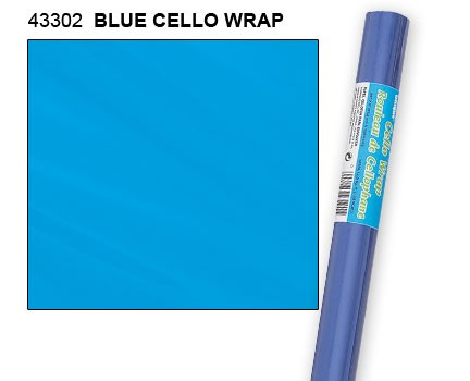 "Blue Cello Wrap Roll 30"" x 5ft."
