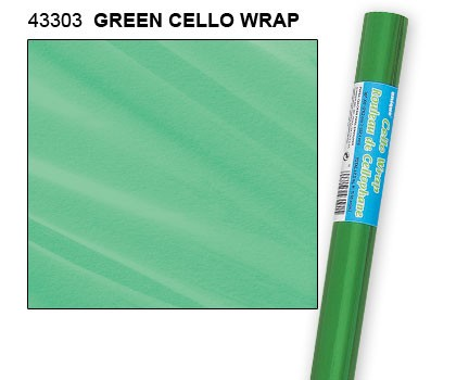"Green Cello Wrap Roll 30"" x 5ft."