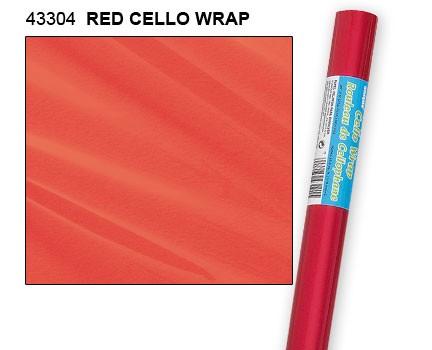 """Red Cello Wrap 30"""" x 5ft."""
