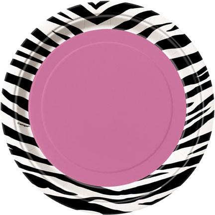 Zebra Passion 9'' Plates 8CT.