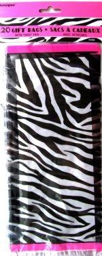 Zebra Passion Cello Bags 20CT.