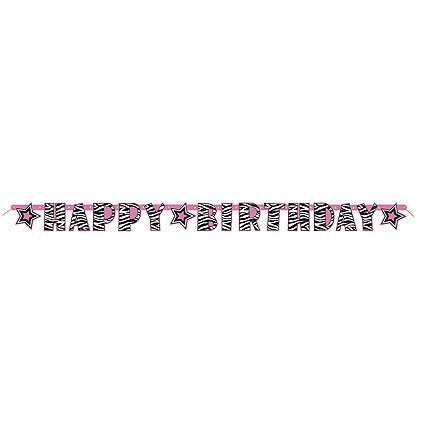 Zebra Passion Jointed Banner ''Happy Birthday''