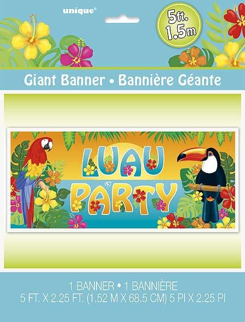 Giant Wall Banner - Tropical Island Luau - 1ct. 6pk.