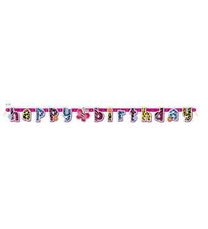 Wild Birthday Large Jointed Banner - Happy Birthday
