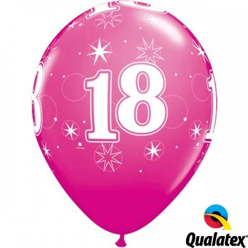 """18 Sparkle-A-Round 11"""" Wild Berry (25CT)"""