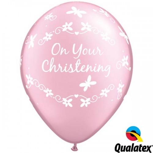 "Christening Butterflies 11"" Pearl Pink (25CT)"