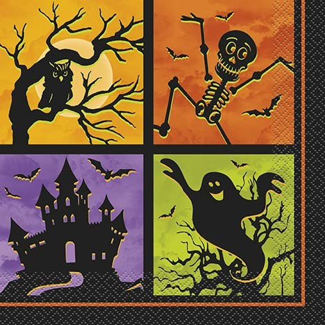 Luncheon Napkins - Halloween Haunted House 20CT.