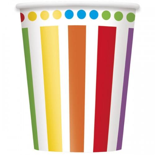 Rainbow Birthday 9oz Cups 8CT
