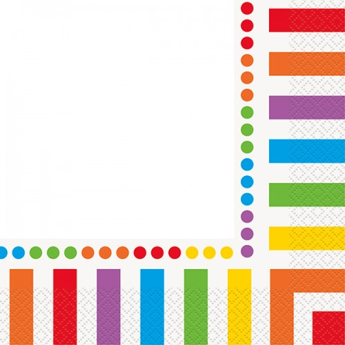 Rainbow Birthday Luncheon Napkin 16CT