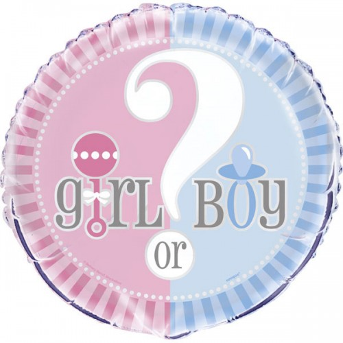 Gender Reveal 18'' Foil Balloon