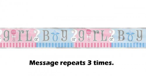 Gender Reveal Foil Banner 12ft