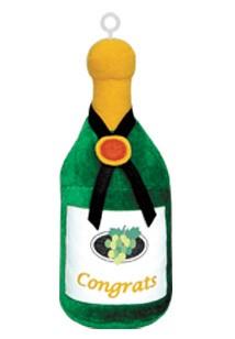 Champagne Bottle Plush Balloon Weight (Box of 6)