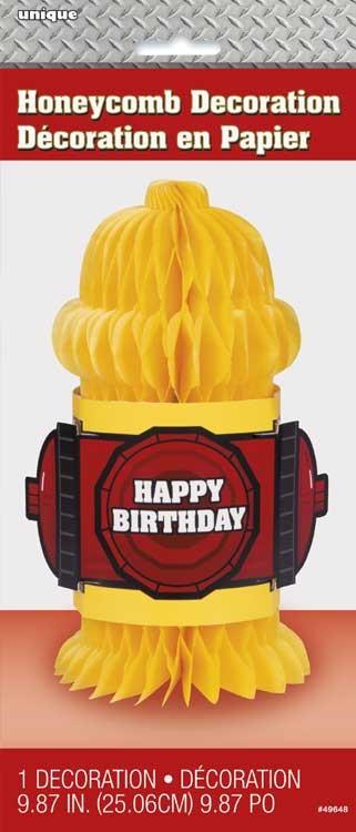 """Honeycomb Centerpiece 10""""H - Fire Truck"""