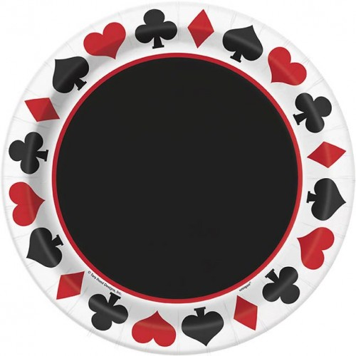 """9"""" Plates - Casino Party 8 CT."""