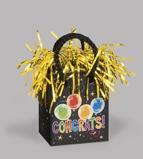 Giftbag Weight - Congrats Fun - (Box of 6)