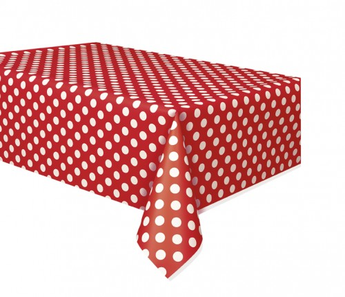 Ruby Red. Dots Tablecover