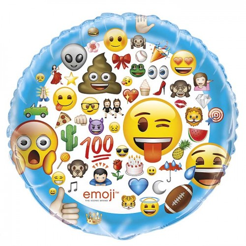 "34"" Giant Foil Balloon - emoji - Packaged"