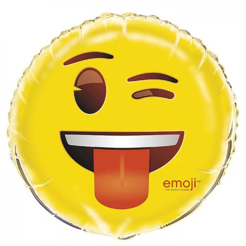 "18"" Foil Balloon Emoji Wink"