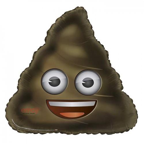 "28"" Giant Shaped Foil Balloon - emoji Poop - Packaged"