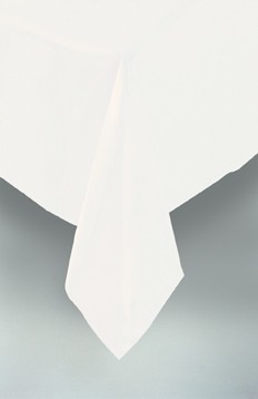 Bright White Plastic Tablecover 54 inch x108 inch