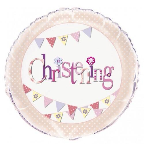 "Christening Pink - 18"" Foil Balloon"