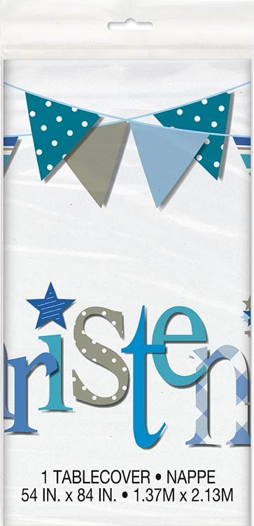 Christening Blue Table Cover
