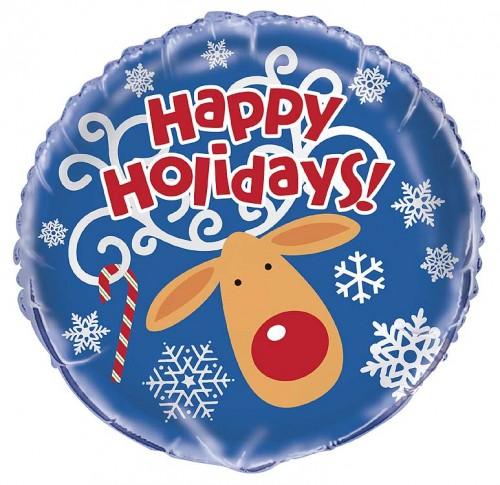 "18"" Foil Happy Holidays Bulk - Pack of 12"