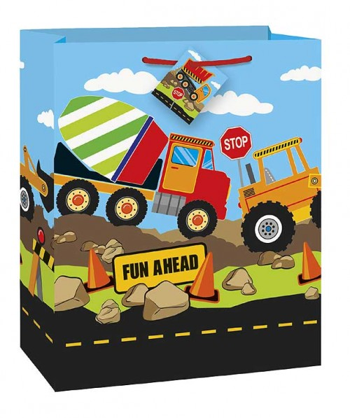 Construction Party Large Gift Bag 12½H x 10½W (12 gift bags, .79 each)