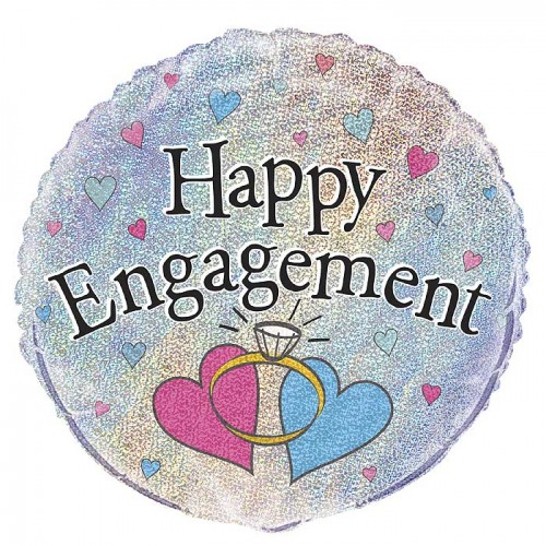 Happy Engagement Prism 18inch Foil Balloon