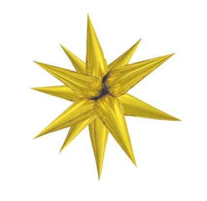 Large Gold 3D Starburst Balloon 70cm.