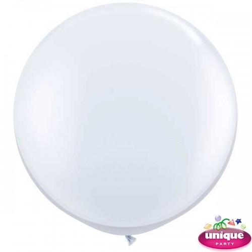 "36"" Linen White Premium Balloon 6Ct"