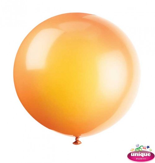 """36"""" Citrus Orange Premium Balloon - Bag of 6"""